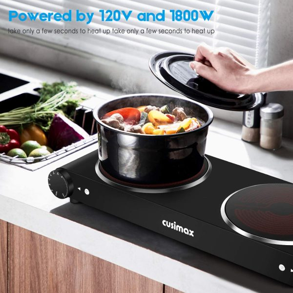 Infrared electric cooktop