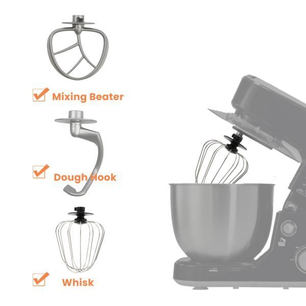 Dough Hook, Mixing Beater and Whisk for Mixer - Cusimax