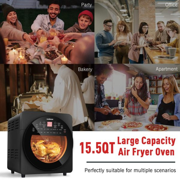 Air Fryer Oven, 15.5QT Convection Toaster Oven