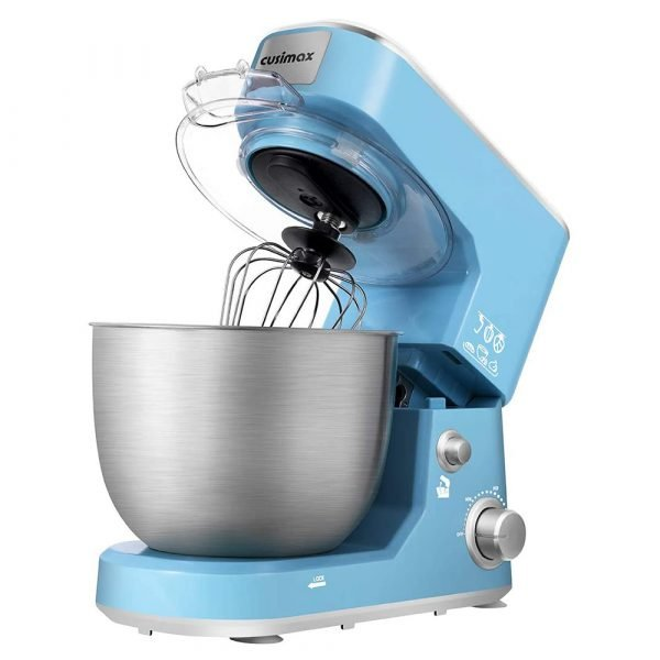 Blue Stand Mixer With 5-Quart Stainless Steel Bowl