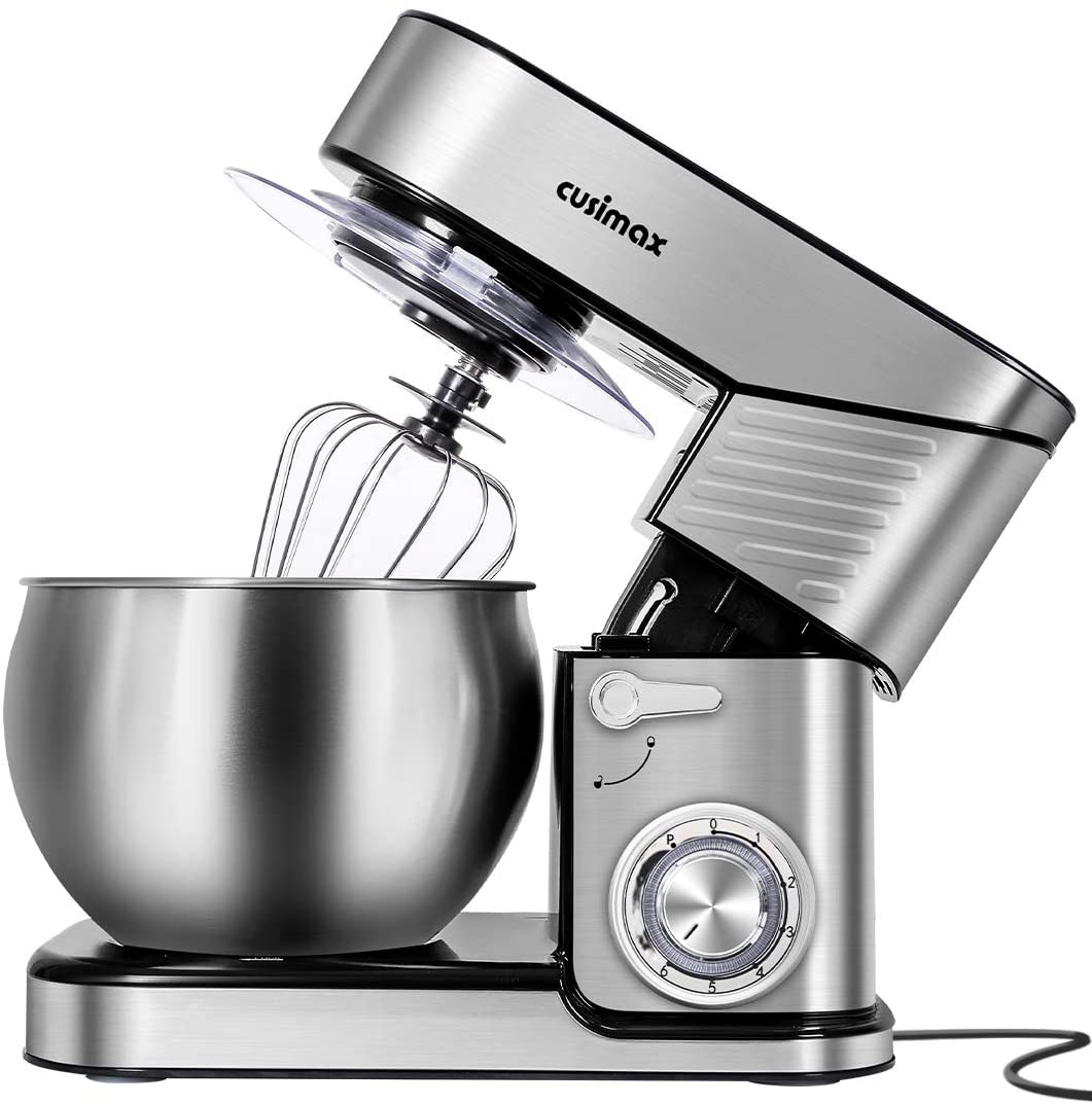 Sliver Stand Mixer With 6.5-Quart Stainless Steel Bowl